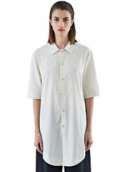 Marvielab Long Short Sleeved Shirt White