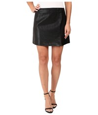 Blank Nyc Vegan Leather Mini Skirt In Break The Ice Black Women's Skirt