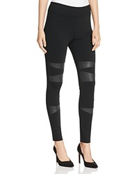 Vince Camuto Two By Faux Leather Patch Leggings Rich Black