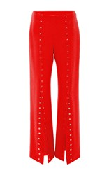 Rosie Assoulin She's Come Undone Snap Front Pants Red