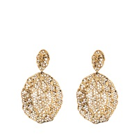 Aurelie Bidermann 18K Dipped Laser Cut Lace Earrings