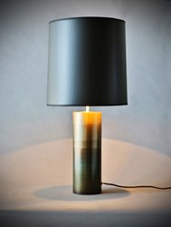 John Beck Paper And Steel Round Table Lamp