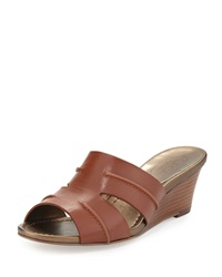 Circa Joan And David Shanna Slide Wedge Sandal Saddle