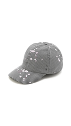 Carven Petals On The Ground Check Cap Black And White