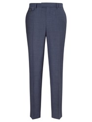 Chester Barrie By Plain Weave Wool Tailored Suit Trousers Airforce