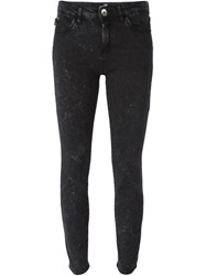 Love Moschino Cropped Skinny Jeans Black