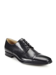 Bally Leather Cap Toe Lace Up Shoes Black