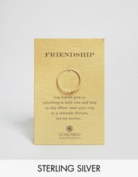 Dogeared Gold Plated Friendship Anchor Reminder Ring Gold