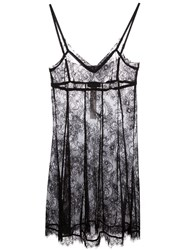 Twin Set Lace Slip Dress Black