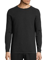 Selected Ribbed Cotton Sweater Dark Grey