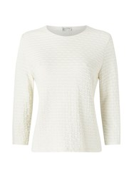 Eastex Ivory Wave Texture Top Neutral