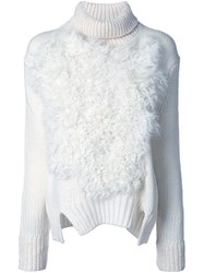 Jay Ahr Roll Neck Pullover White