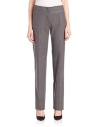 Armani Collezioni Flannel Wool Pants Light Grey