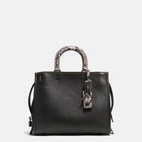 Coach 1941 Rogue Bag In Colorblock Python Black Black