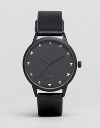 Asos Watch With Studs In Black Black
