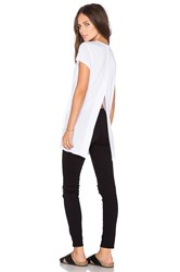 Heather Vent Back Tunic White
