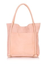 Topshop Leather Knot Shopper Bag Taupe