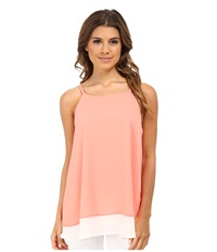 Gabriella Rocha Double Layer Camisole Coral White Women's Sleeveless Orange