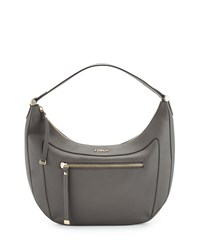Furla Ginevra Medium Leather Hobo Bag Lava