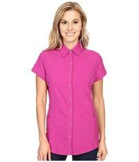 Kuhl Wunderer S S Shirt Orchid Women's Short Sleeve Button Up Purple