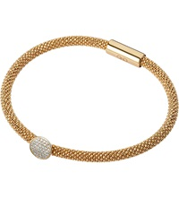 Links Of London Star Dust Round Bracelet Gold Plated Silver