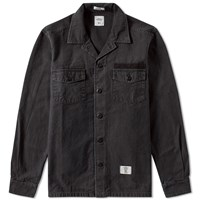 Bedwin And The Heartbreakers Cliff Military Shirt Black