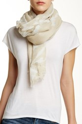 David And Young Splatter Oblong Scarf Beige