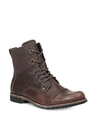 Gbx Griff Leather Boots Brown