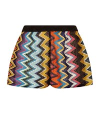 Missoni Mare Open Side Zig Zag Lurex Shorts Female Multi