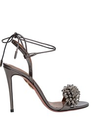 Aquazzura 105Mm Monaco Crystals Leather Pumps