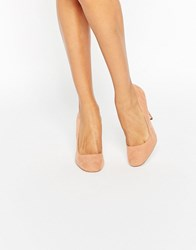 Asos Playtime Square Toe High Heels Nude Beige