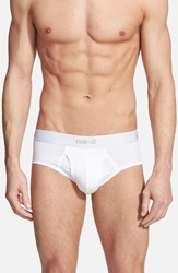 Naked 'Essential' Stretch Cotton Briefs 2 Pack White