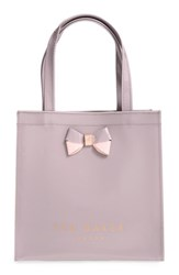 Ted Baker London 'Small Icon Bow' Tote Purple Mid Purple