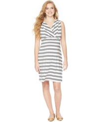 Motherhood Maternity Striped Nursing Nightgown
