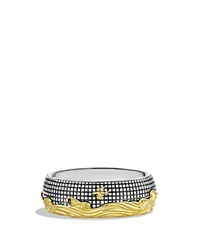 David Yurman Waves Signet Ring With Gold Silver Yellow Gold