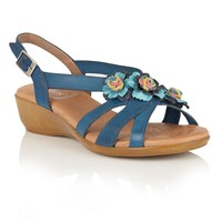 Lotus Bethel Strappy Sandals Blue
