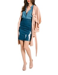 Kendall Kylie Light Weight Trench Coat Sepia