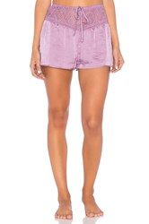 Band Of Gypsies Lace Satin Short Lavender