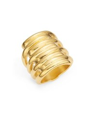 Uno De 50 Tornado Cocktail Ring Gold
