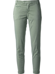 Jacob Cohen Cropped Trousers Green