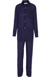 Etoile Isabel Marant Peters Checked Flannel Jumpsuit Midnight Blue