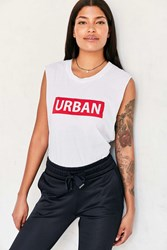 Truly Madly Deeply Urban Muscle Tee White