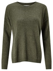 John Lewis Collection Weekend By Drop Sleeve Cashmere Jumper Khaki
