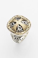 Konstantino 'Classics' Cross Two Tone Ring Silver Gold
