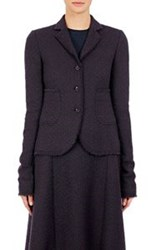 Nina Ricci Women's Tweed Three Button Sportcoat Black