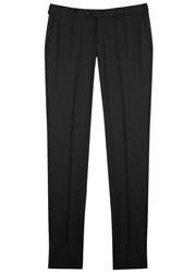Pal Zileri Charcoal Wool Twill Trousers