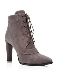 Stuart Weitzman Ruggy Suede High Heel Lace Up Booties Londra