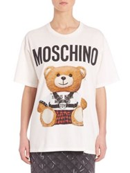 Moschino Bear Logo Cotton Tee White