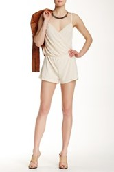 Sweet Pea Surplice Romper White