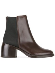 Paul Smith Ps By Elasticated Detailing Ankle Boots Brown